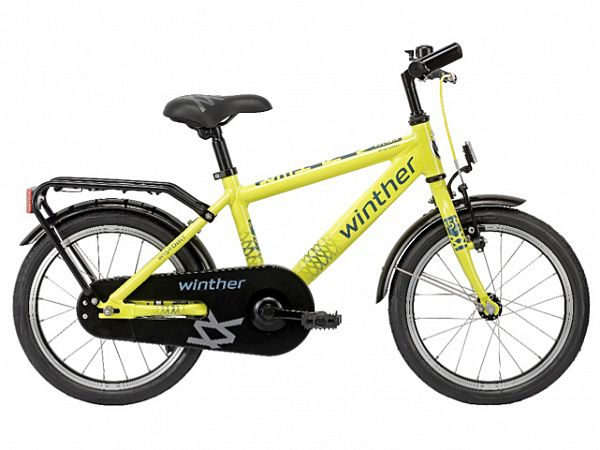"Winther 150 Alu Dirt 12,5"" gul - Børnecykel - 2016"