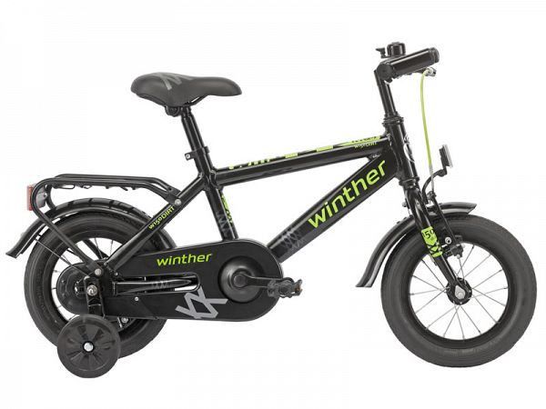 "Winther 150 Dirt 12,5"" sort - Børnecykel - 2016"