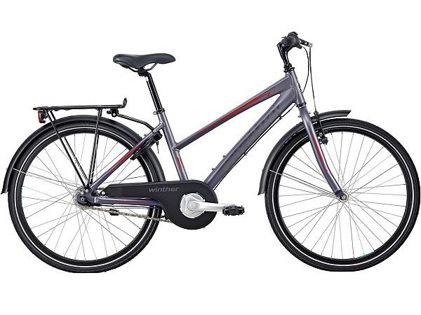 "Winther 300 Alu 24"" Purple - Pigecykel - 2020"