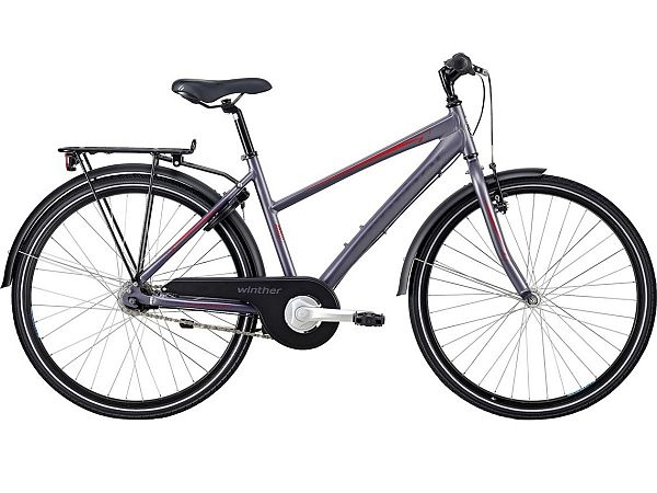 "Winther 300 Alu 26"" Purple - Pigecykel - 2020"