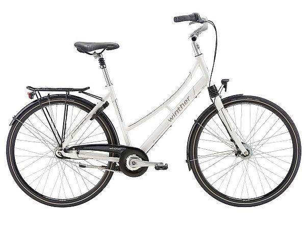 Winther Kent hvid - Damecykel - 2018, 50cm (Udstillingsmodel)