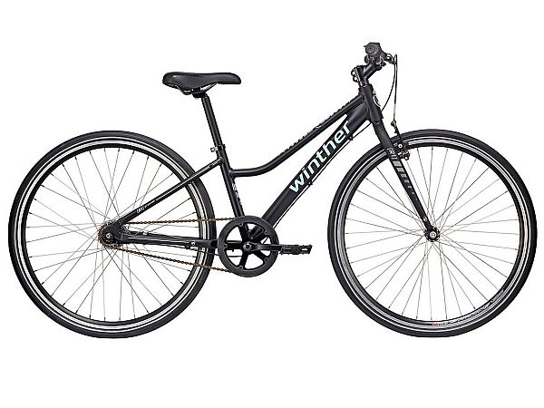 "Winther R1 Sport 24"" sort - Pigecykel - 2018"