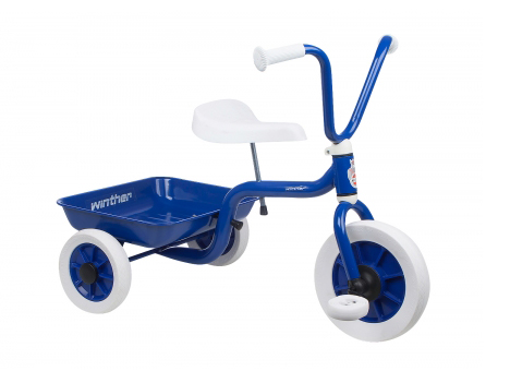 Winther Trehjulet Cykel m. Tiplad - Blå - Udstillingsmodel