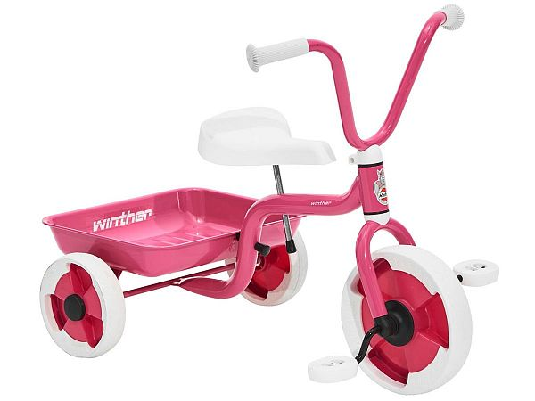 Winther Trehjulet Cykel m. Tiplad - Pink