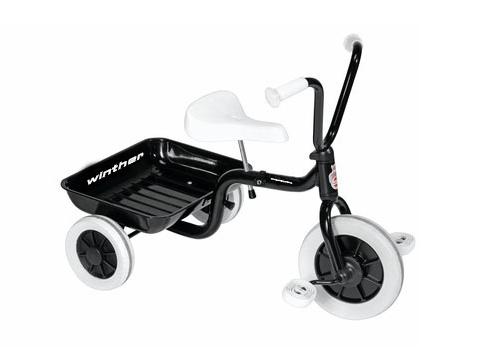 Winther Trehjulet Cykel m. Tiplad - Sort