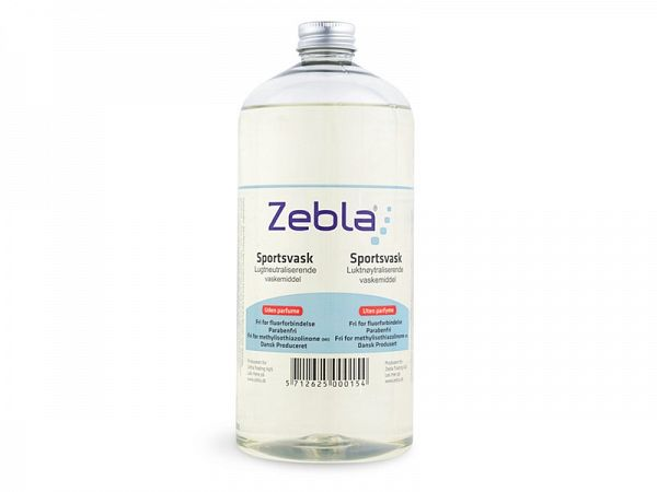 Zebla Sports Wash No Parfume Vaskemiddel, 1000ml