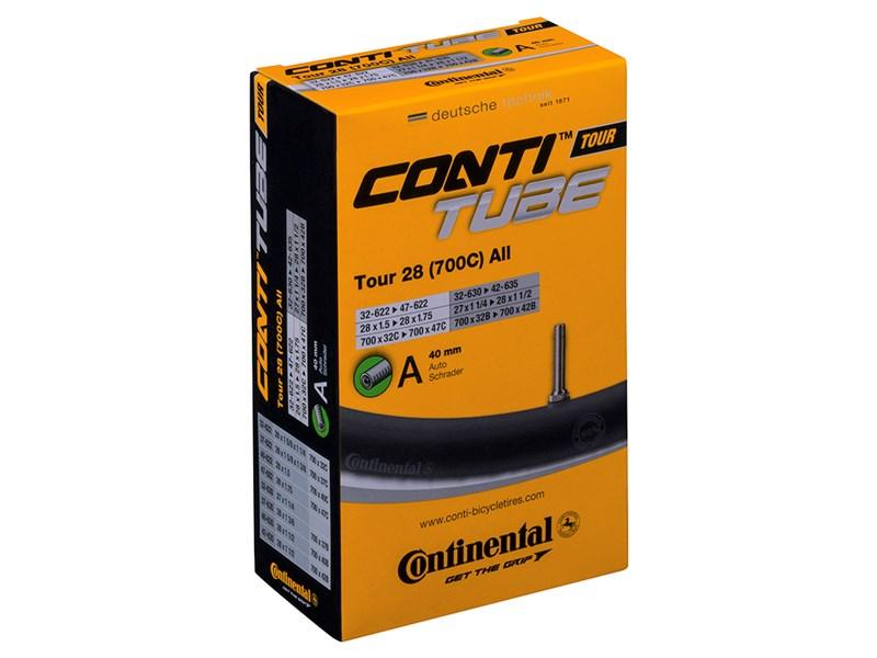 Continental Tour 28 All Cykelslange 700x28/47C, 40mm Auto Ventil