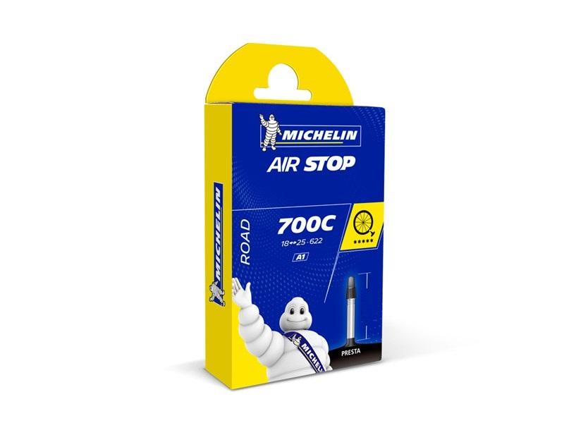 Michelin Airstop Cykelslange 700x18/25C, 80mm Racerventil