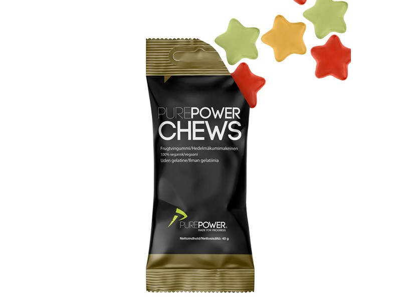 PurePower Chews Vingummier, Frugt
