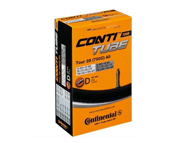 Continental Tour 28 All Cykelslange 700x28/47C, 40mm Dunlop Ventil