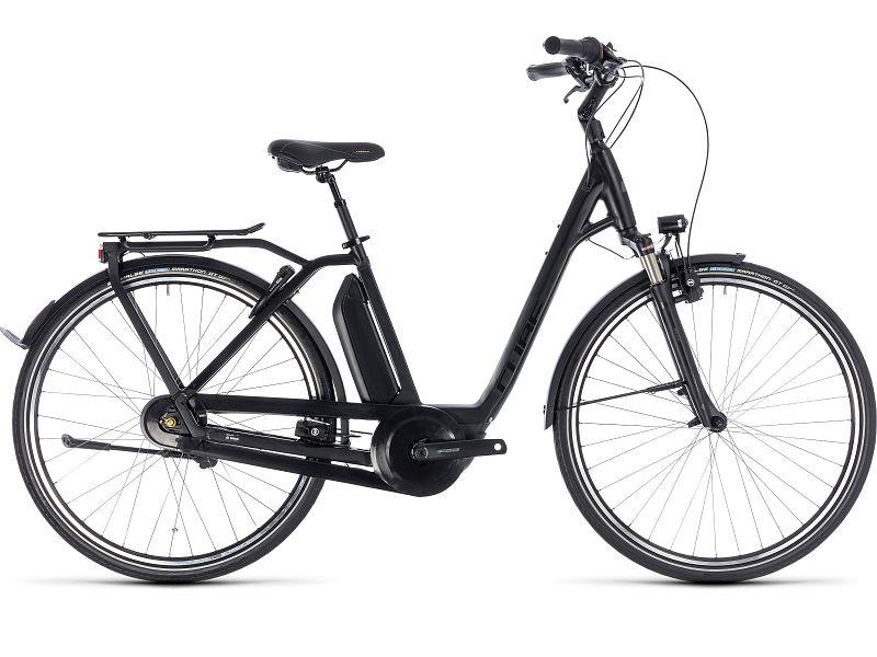 Cube Town Hybrid Pro 400 sort - Elcykel - 2018