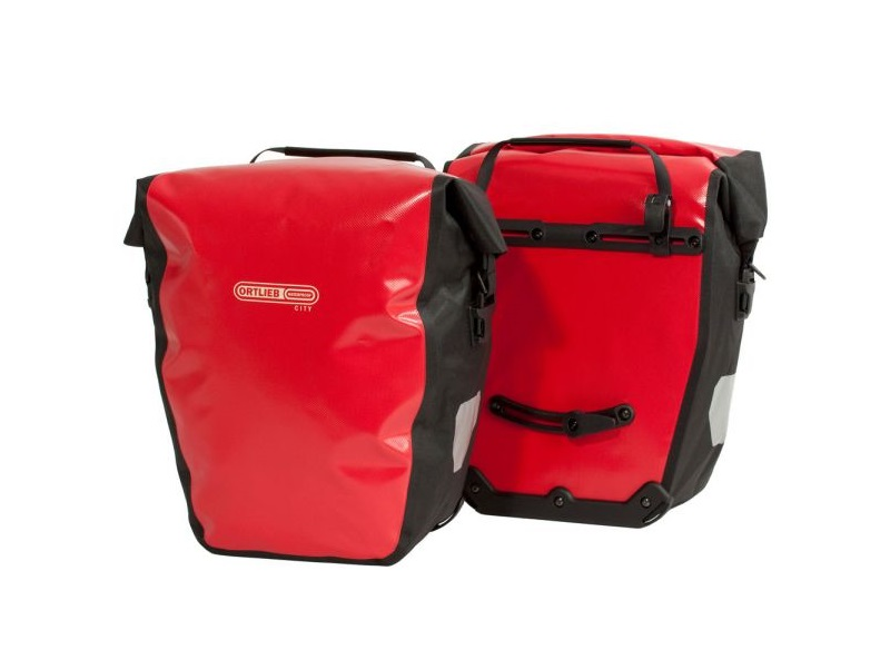 Ortlieb Back-Roller City Red Sidetaskesæt, 2 x 20L