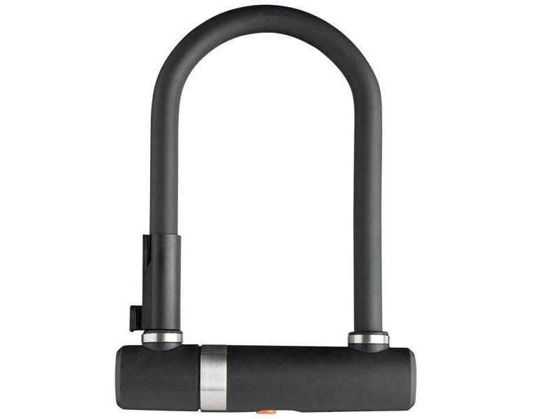 AXA Newton Pro Mini - Bøjlelås med 2 nøgler og LoopWire - Sort | cykellås