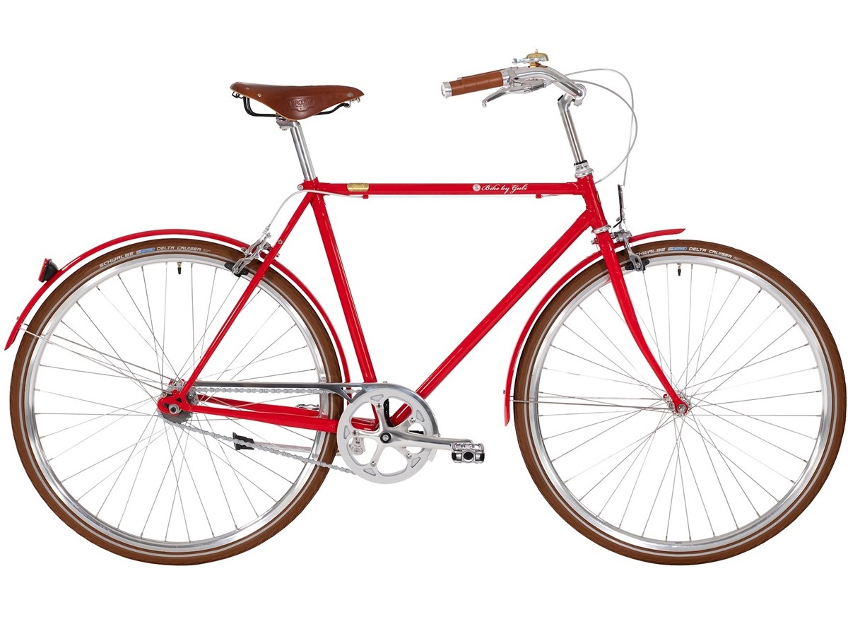 Bike by Gubi 8 Red Nelson - Herrecykel - 2021 | city-cykel