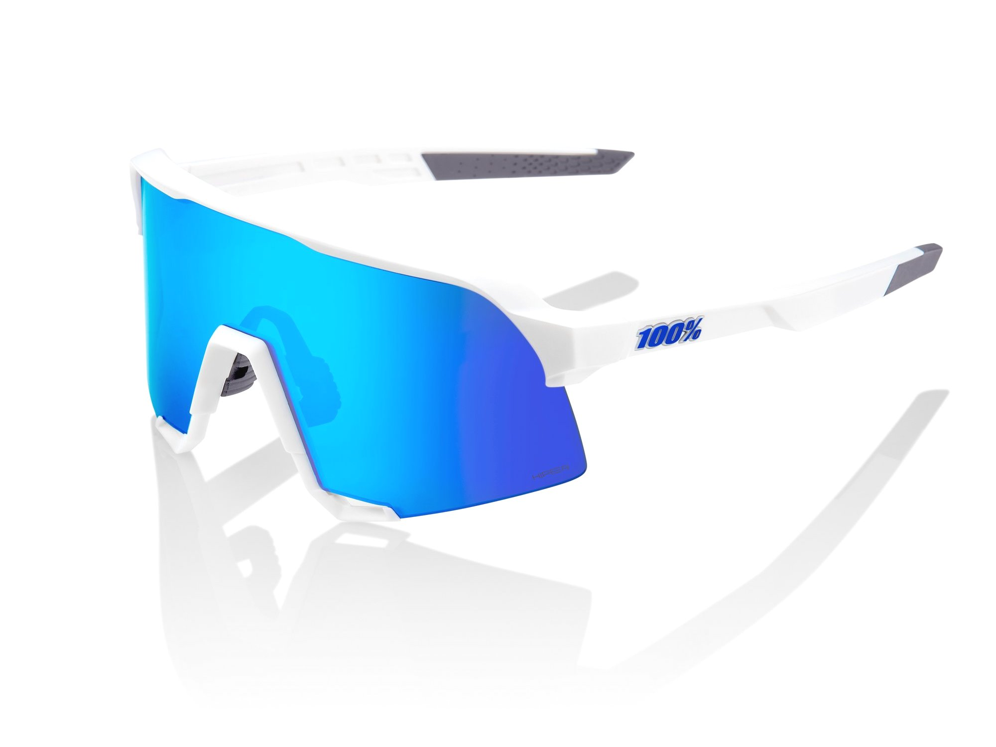 100% S3 Solbriller, Soft Tact White | cykelbrille