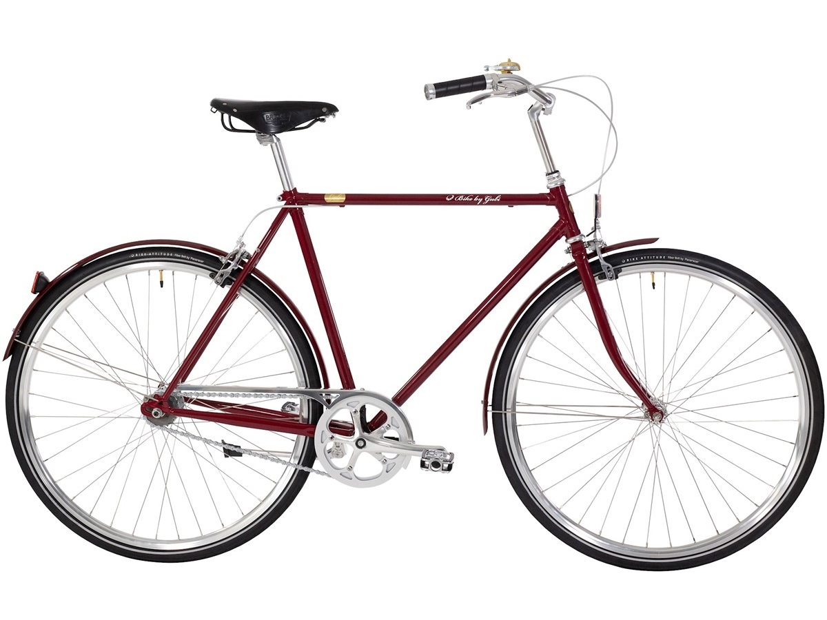 Bike By Gubi 8 French Bordeaux - Herrecykel - 2021 | city-cykel