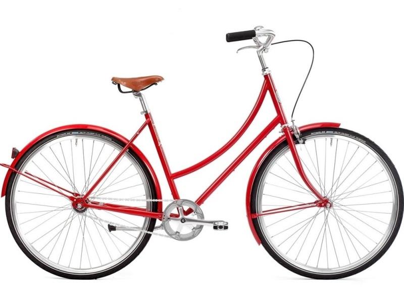 Pelago Brooklyn 3 Red - Damecykel - 2020 | city-cykel